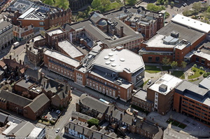 University of Wolverhampton Wulfruna  Campus  from the air