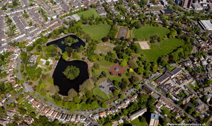 West Park, Wolverhampton line from the air