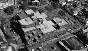 Wolverhampton Civic Centre from the air