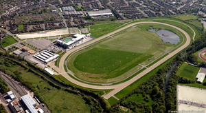 Wolverhampton Racecourse from the air
