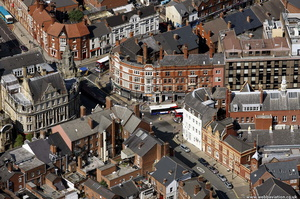 Wolverhampton city centre from the air