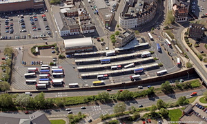Bus Station  Wolverhampton West Midlands aerial photograph