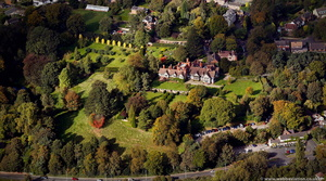Wightwick Manor from the air