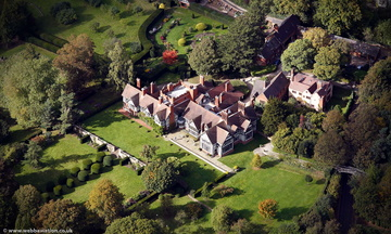Wightwick Manor Wolverhampton West Midlands aerial photograph