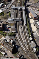 Wolverhampton railway station from the air