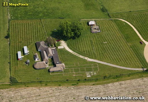 Bignor Roman Villa West  Sussex  aerial photograph