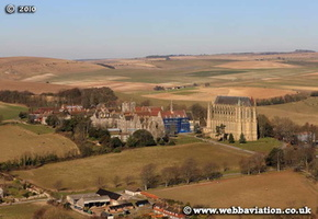 Lancing College West Sussex aerial photograph