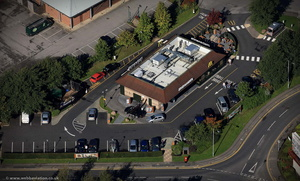 McDonald's Birstall from the air