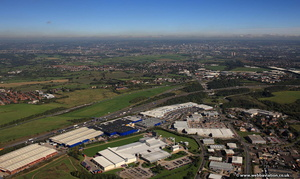 Oakwell Industrial Park  Birstall Leeds from the air