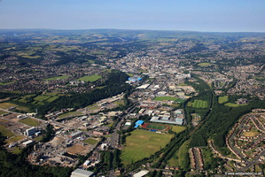 Huddersfield from the air  aerial photograph