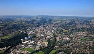 Huddersfield panorama aerial photograph