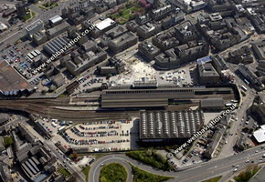 Huddersfield railway station   aerial photo