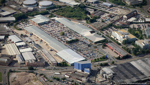 Crown Point Shopping Park  Leeds  from the air