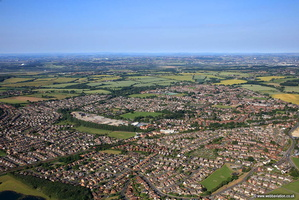 Garforth Leeds  Yorkshire   aerial photograph