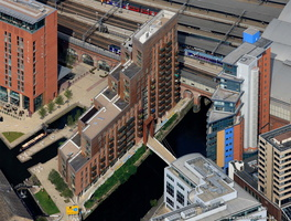 Granary Wharf Leeds waterfront  from the air