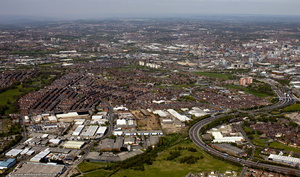 Hunslet Carr, Leeds, from the air