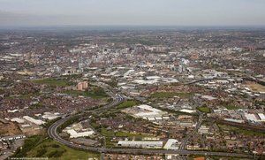 Hunslet, Leeds, LS10  from the air