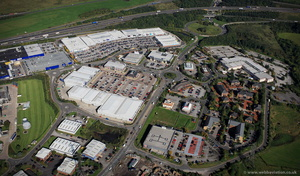 Junction 27 Retail Park from the air