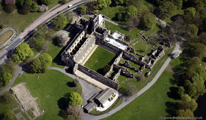 Kirkstall Abbey from the air