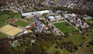 Leeds Beckett University, Headingley Campus  from the air