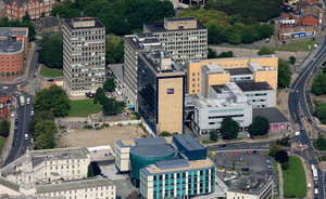Leeds Beckett University City Campus from the air