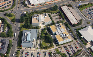 Leeds City Office Park from the air
