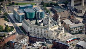 Leeds Civic Hall from the air