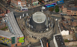 Leeds Corn Exchange from the air