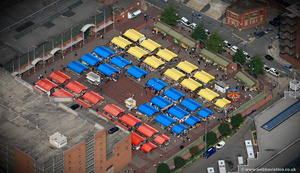 Leeds Ouitdoor Market from the air