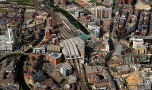 Leeds railway station from the air