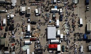 Leeds Sunday Market from the air