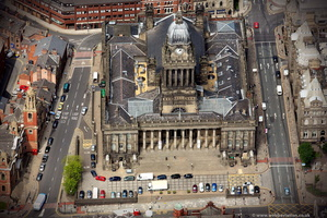 Leeds Town Hall from the air