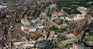 Leeds University from the air