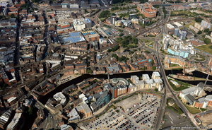 Leeds city centre West  from the air