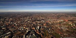 Leeds panorama  from the air