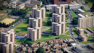 Lincoln Green Estate Leeds from the air