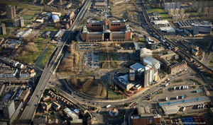 Quarry Hill Leeds from the air