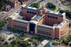 Quarry House Leeds from the air