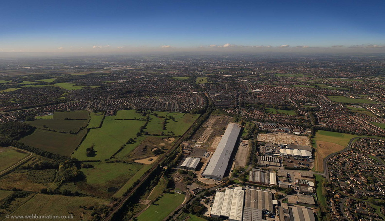Royal Ordnance Factory Leeds from the air
