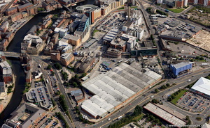 Tetley's Brewery Leeds from the air