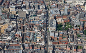 The Headrow Leeds city centre from the air
