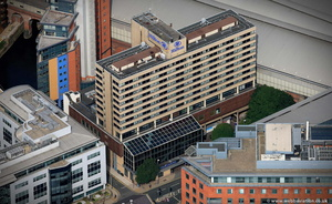 The Hilton Leeds City hotel  from the air