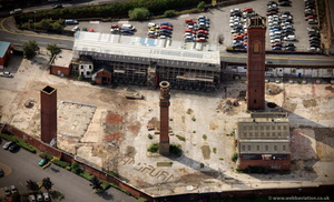 The Tower Works Leeds  from the air