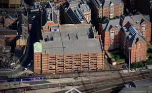 Trinity Leeds Car Park from the air