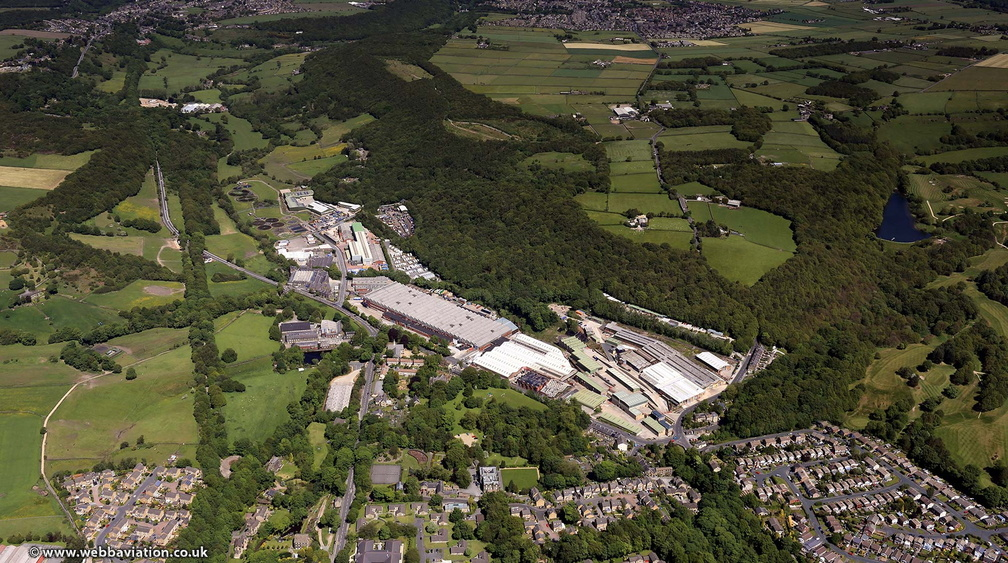 Meltham Mills   West Yorkshire from the air