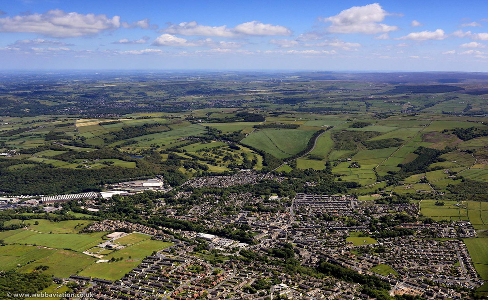 Meltham  West Yorkshire from the air