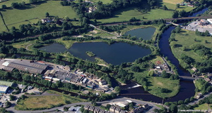 Ladywood Lakes Mirfield  aerial photograph