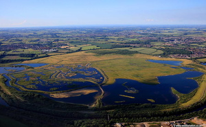 St Aidan's Country Park & RSPB Nature Reserve aerial photograph