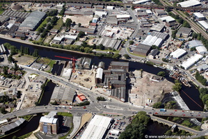 Bridge Street  area of Wakefield  taken in 2007 before it was redeveloped from the air
