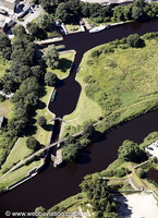 Fall Ing Lock Canal Lock  Calder & Hebble Navigation from the air